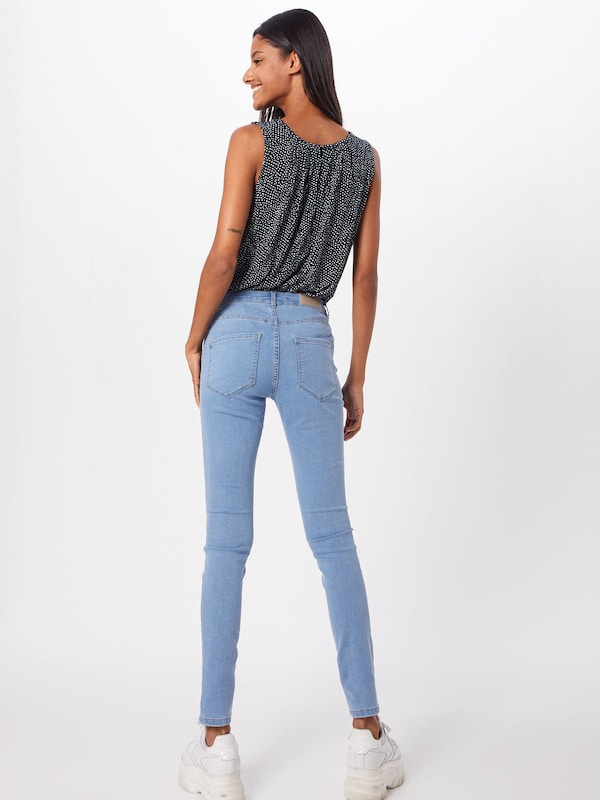VERO MODA Jeggings 'VMJULIA' in blue denim: Rückansicht