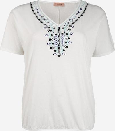 TRIANGLE T-Shirt in blau / hellblau / schwarz / weiß: Frontalansicht