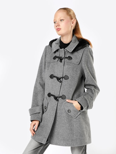 Žieminis paltas iš heine , spalva - margai pilka / juoda, Modelio vaizdas