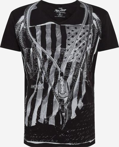 Key Largo Shirt 'MT RAZOR BLADE' in de kleur Grijs / Zwart / Wit, Productweergave