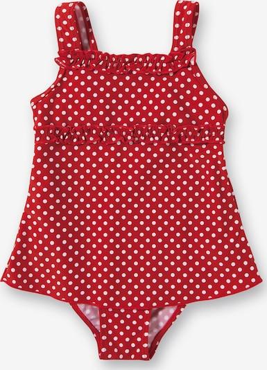 PLAYSHOES Badeanzug in rot / weiß, Produktansicht