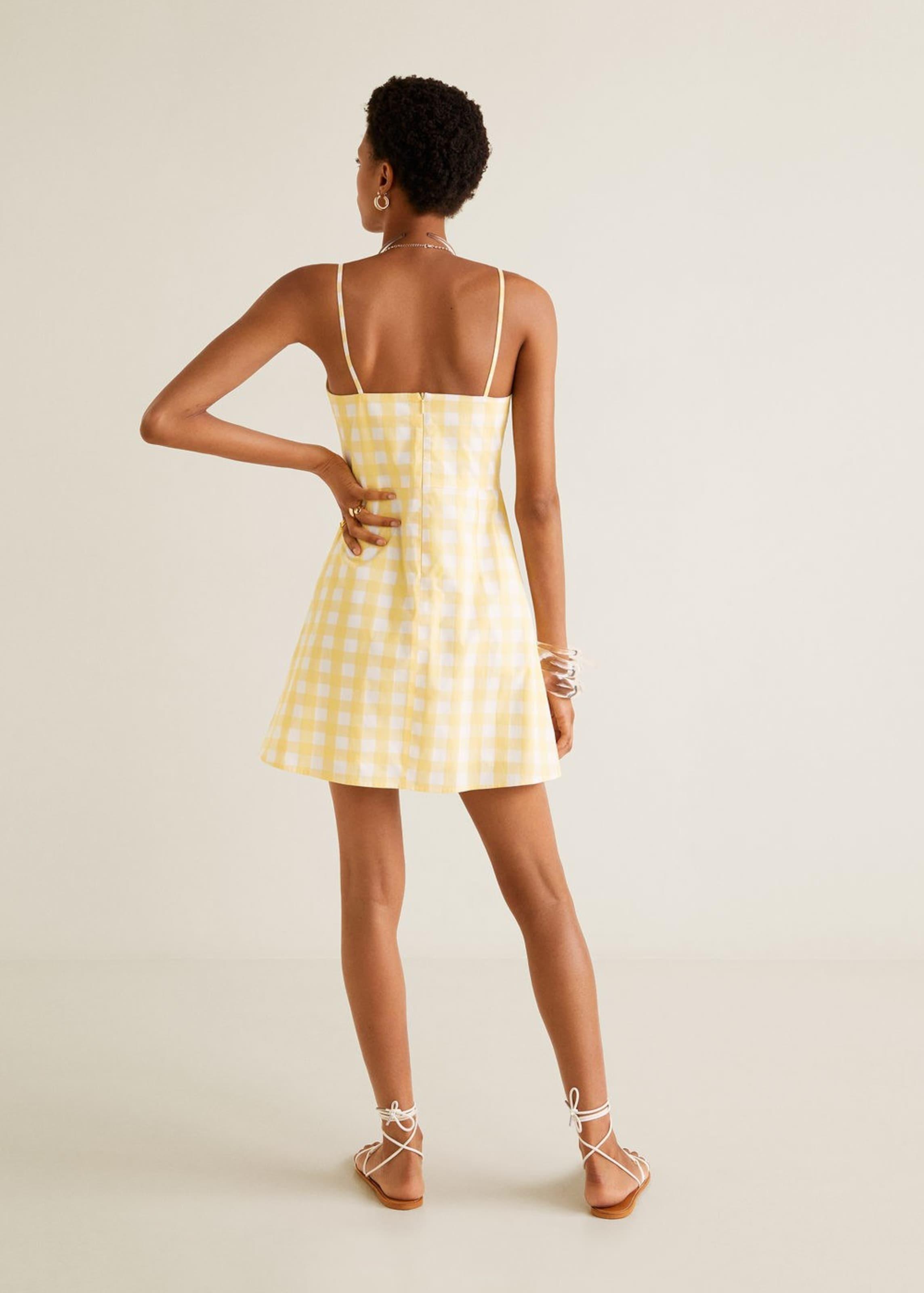 'lacito' Mango Kleid 'lacito' In Kleid In GelbWeiß Mango L5ARj34