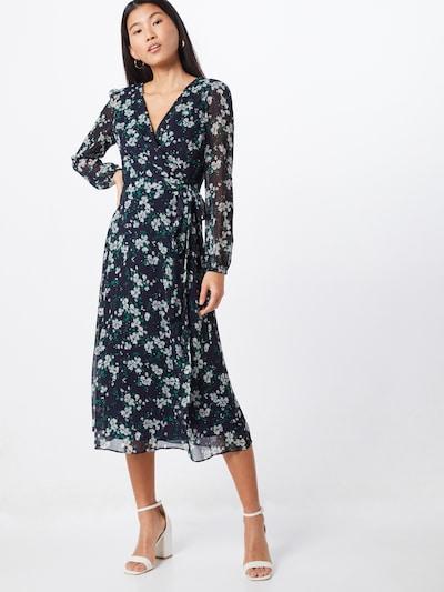 Lauren Ralph Lauren Letní šaty 'FRANNY-LONG SLEEVE-DAY DRESS' - námořnická modř / šedá, Model/ka