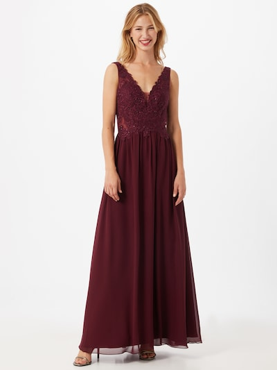 Laona Kleid in bordeaux, Modelansicht