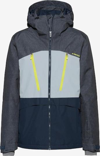 PROTEST Skijacke 'Buston' in kobaltblau / azur / neongelb, Produktansicht