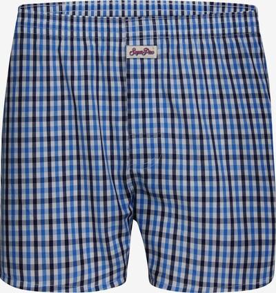Sugar Pine Boxershorts 'Classic Check' in blau, Produktansicht