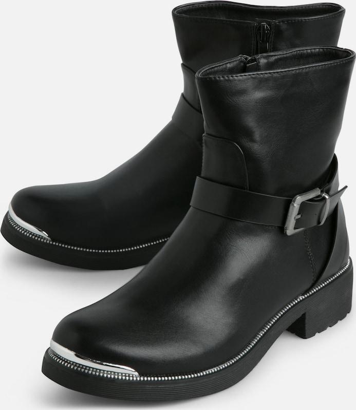 PIECES Klassische, schwarze Stiefel