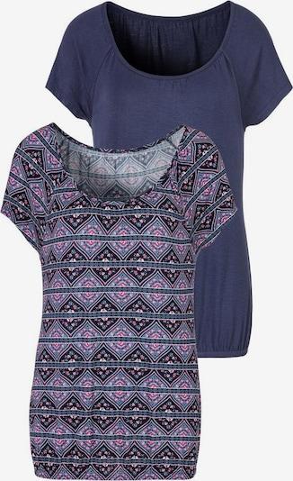 Tricou LASCANA pe albastru, Vizualizare produs