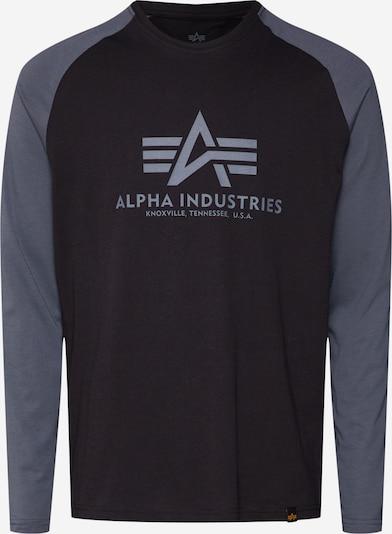 ALPHA INDUSTRIES Tričko - sivá / čierna, Produkt