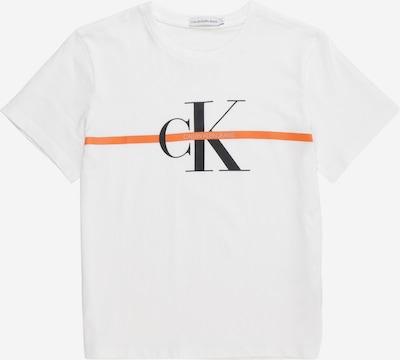 Calvin Klein Jeans Shirt 'MONOGRAM' in de kleur Wit, Productweergave