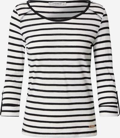 Tricou 'Femke' Hailys pe negru / alb, Vizualizare produs