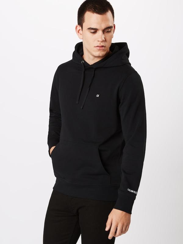 Calvin Sweat En Hoodie' Jeans Embroidery Chest Noir shirt 'ckj Klein qVSzpMU