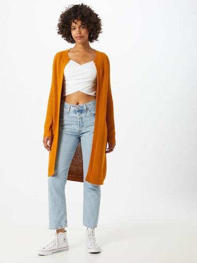 sötét narancssárga Noisy may Kardigán 'Siesta', Modell nézet