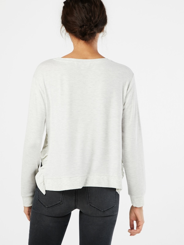 TOM TAILOR DENIM Sweatshirt 'Rib Ruffles'