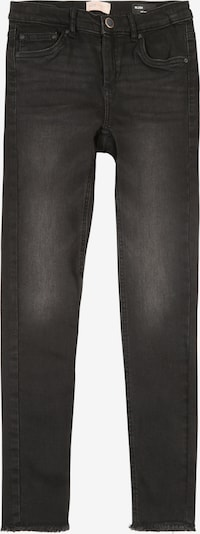 KIDS ONLY Jeans 'KONBLUSH SKINNY RAW JEANS REA1099' in black denim, Produktansicht
