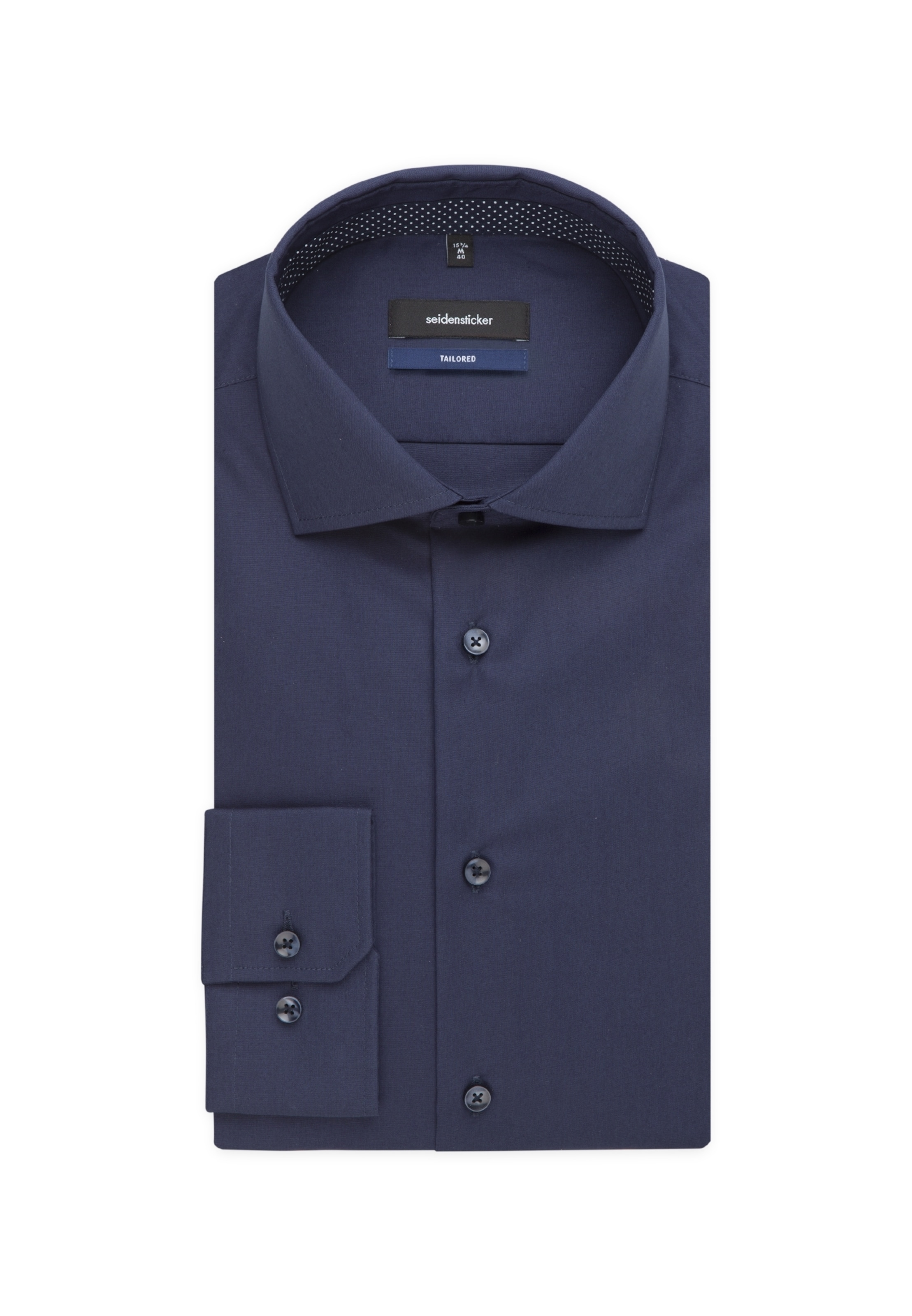 En Business 'tailored' Foncé Seidensticker Chemise Bleu mn08Nw