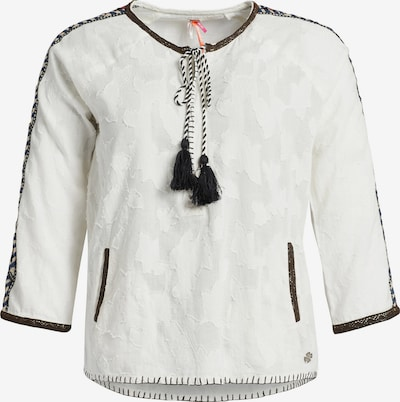 khujo Blusenshirt 'Ares' in schwarz / weiß, Produktansicht