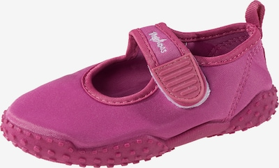 PLAYSHOES Badeschuhe 'Glückskäfer' in pink / weiß, Produktansicht