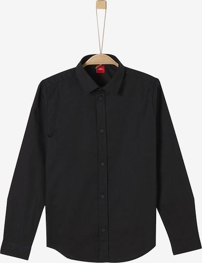s.Oliver Junior Hemd in schwarz, Produktansicht