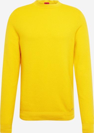 HUGO Trui in de kleur Geel, Productweergave