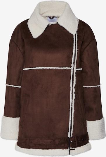 NA-KD Zimná bunda - hnedé / biela, Produkt
