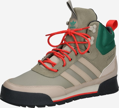 ADIDAS ORIGINALS Baskets hautes 'Baara Boot' en beige / vert / kaki, Vue avec produit