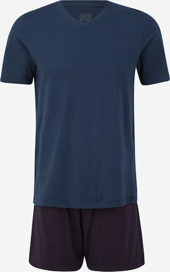 SCHIESSER Pyjama court en bleu / rouge, Vue avec produit