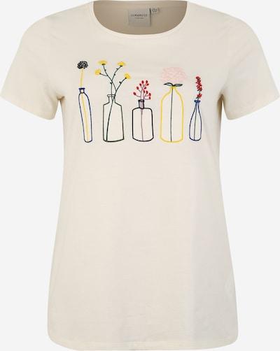 Junarose T-shirt 'PLANT BONJOUR' en crème, Vue avec produit