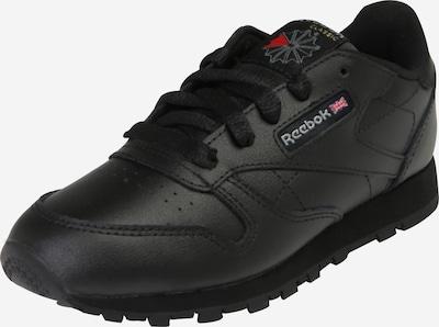 Reebok Classic Sneaker aus strukturiertem Leder in schwarz, Produktansicht