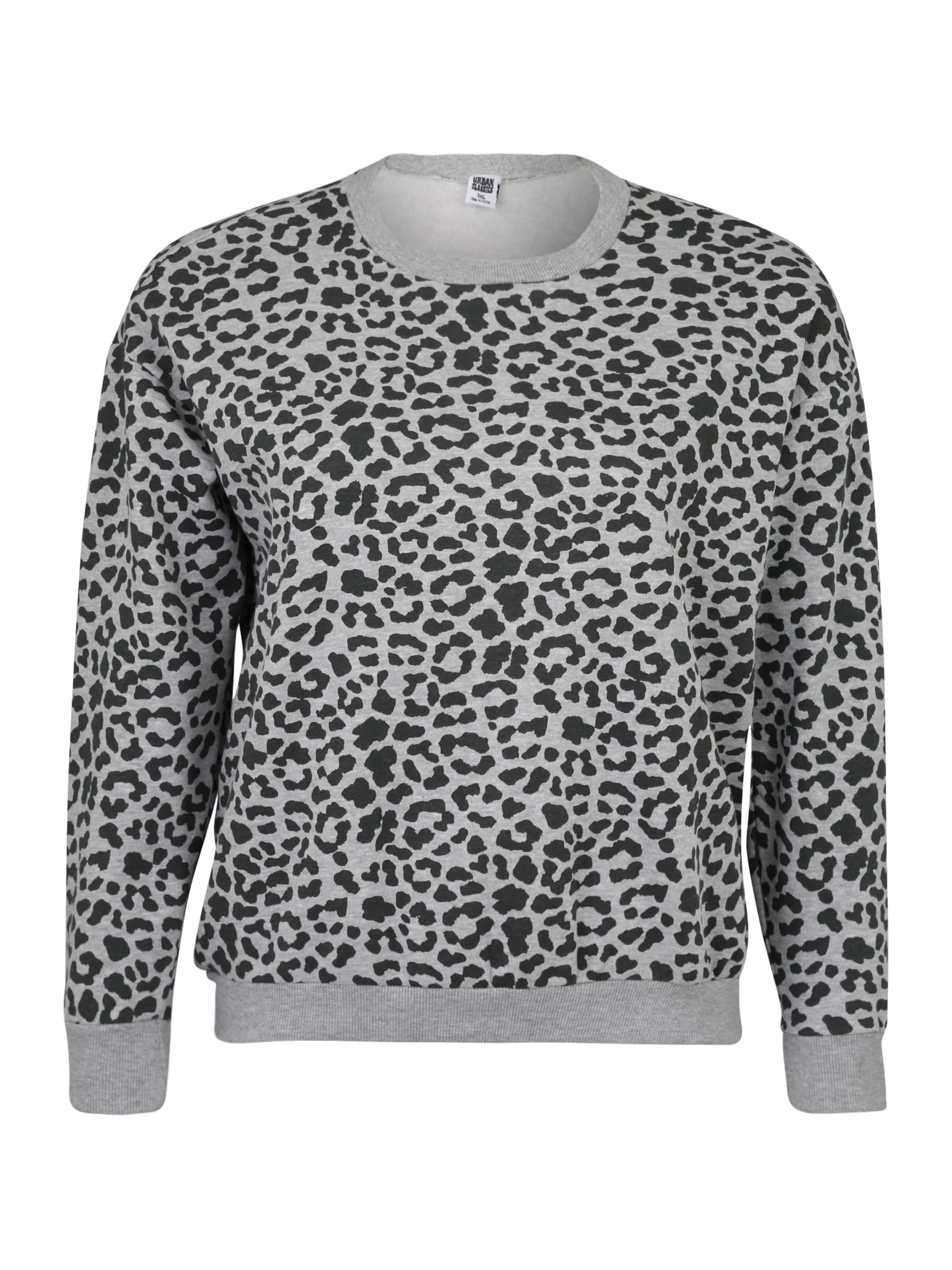 Urban Classics Sweatshirt 'Ladies' i grå / svart