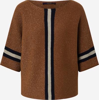 LAUREL Sweter w kolorze brązowy / białym, Podgląd produktu