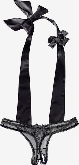 PETITE FLEUR GOLD Stringbody in schwarz, Produktansicht