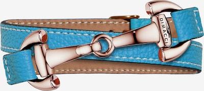 Dimacci Armband 'Alba' in neonblau / bronze, Produktansicht