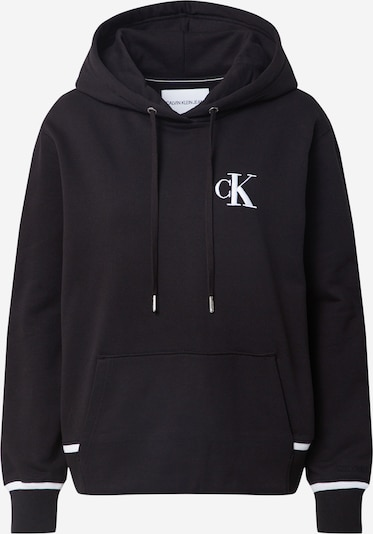 Calvin Klein Jeans Mikina - černá / bílá, Produkt