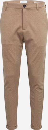Lindbergh Pantalon 'Knitted cropped pants' en sable, Vue avec produit