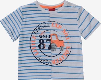 s.Oliver Shirt in de kleur Lichtblauw / Sinaasappel / Zwart / Wit, Productweergave