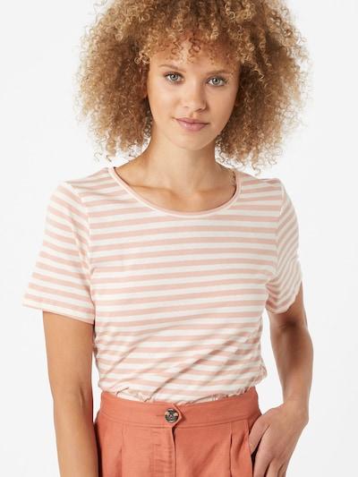 VILA Koszulka w kolorze różowy pudrowy / białym: Widok z przodu
