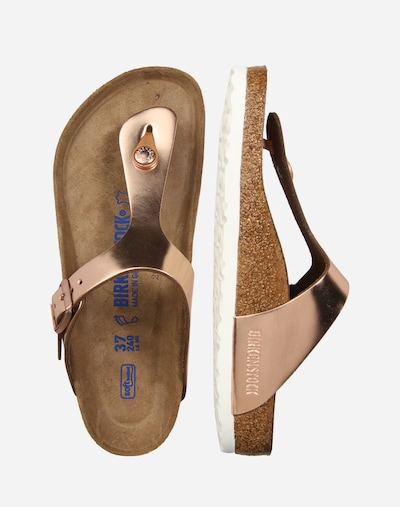 BIRKENSTOCK Zehentrenner 'Gizeh' normal in rosegold   ABOUT YOU