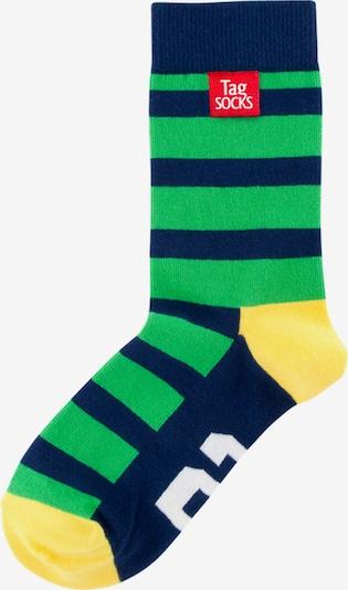 Tag SOCKS Socken in navy / gelb / grün, Produktansicht