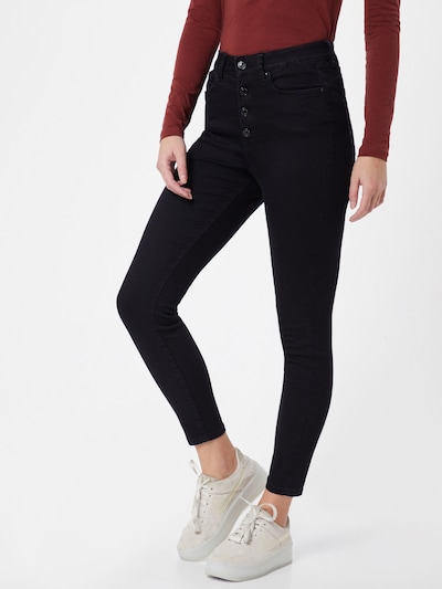TOM TAILOR DENIM Damen - Jeans 'tom tailor denim janna Denim Long ankle' in black denim, Modelansicht