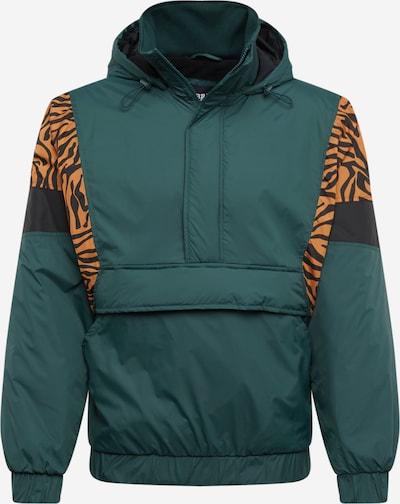 Urban Classics Jacke in braun / dunkelgrün / schwarz, Produktansicht