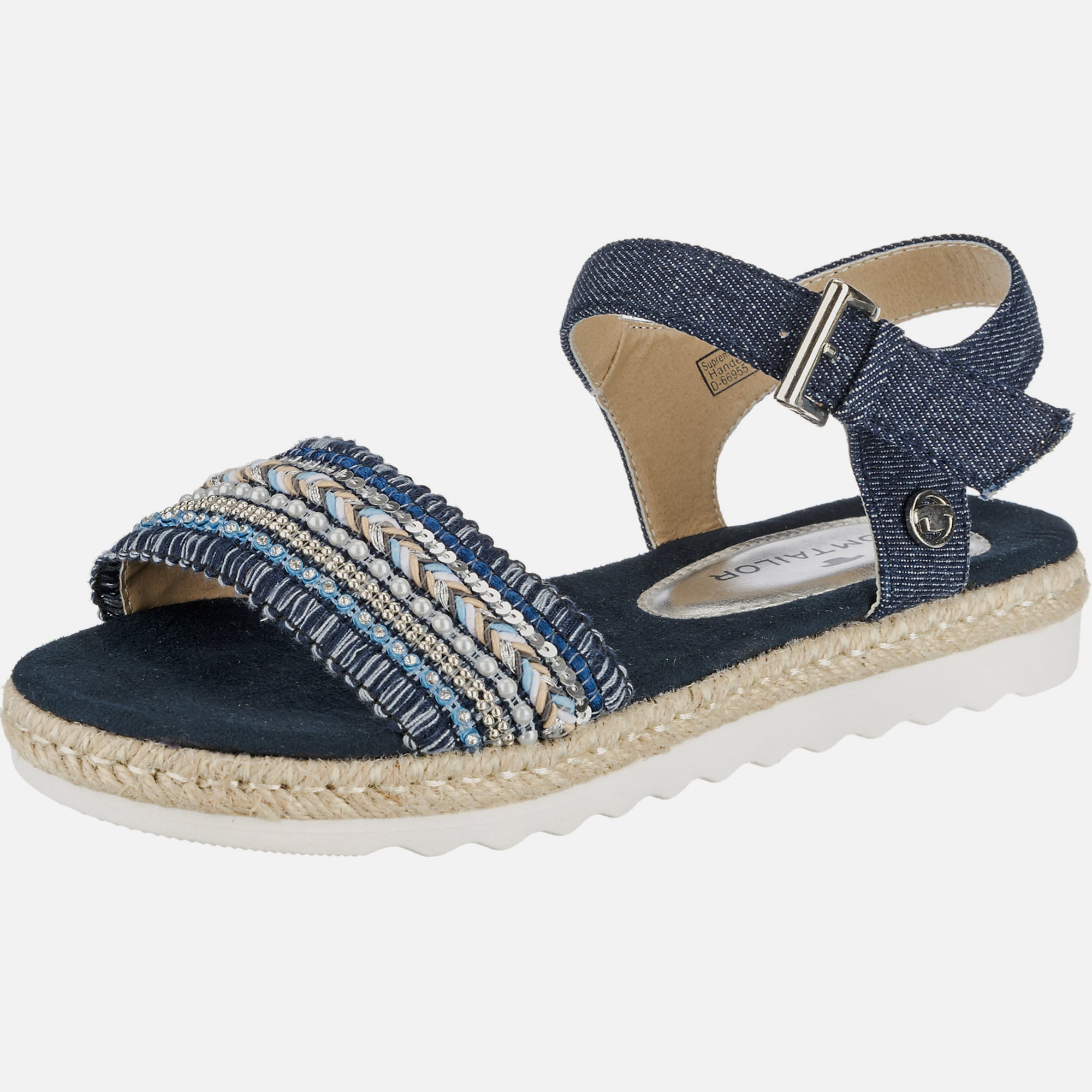 tom tailor sandalen in blau about you. Black Bedroom Furniture Sets. Home Design Ideas
