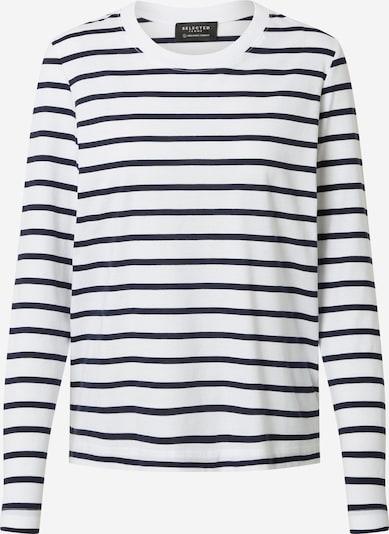 SELECTED FEMME Shirt in dunkelblau / weiß, Produktansicht