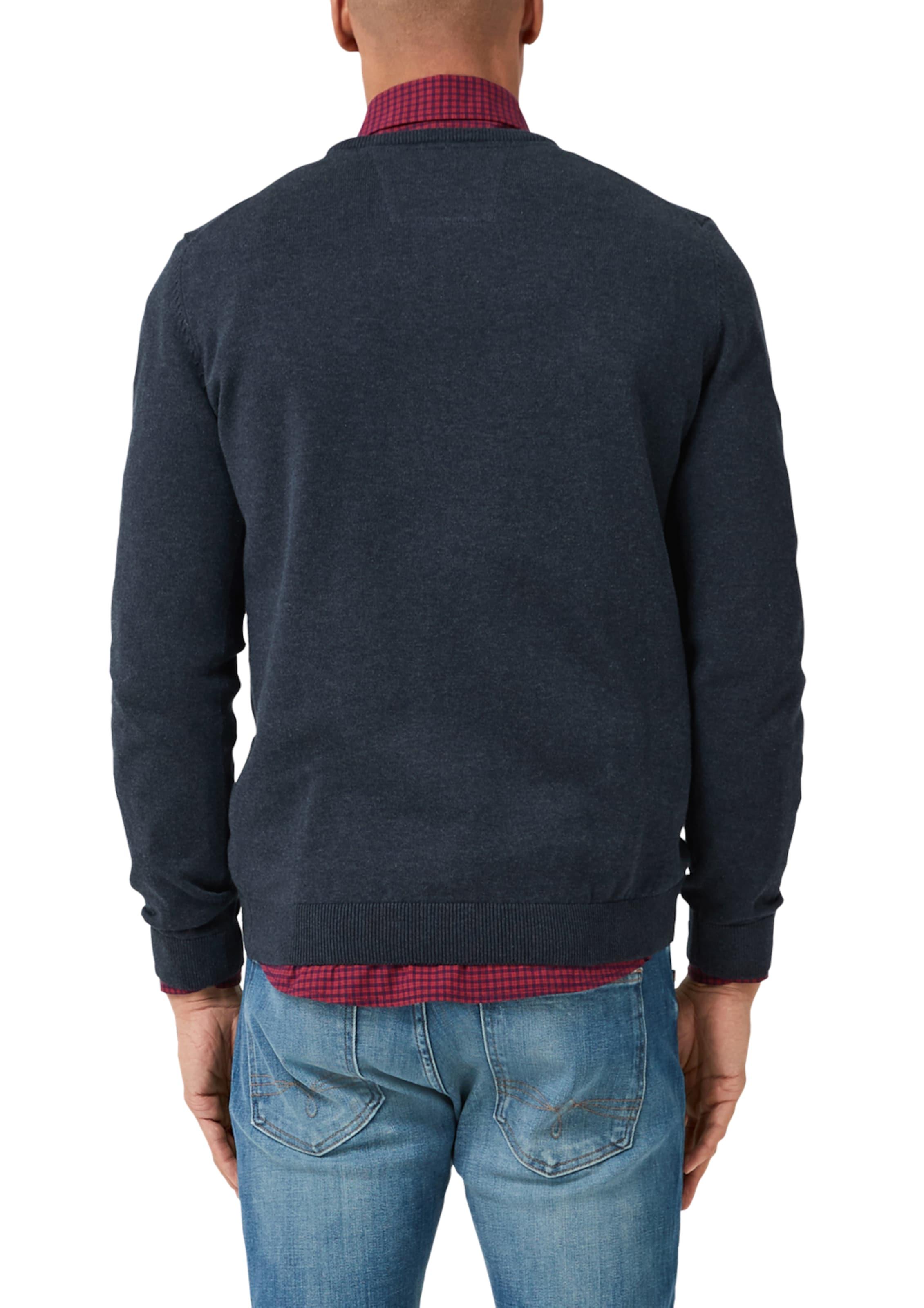 S oliver Crew Neck Label In Red Pullover Mit Dunkelblau WBQxoerCEd