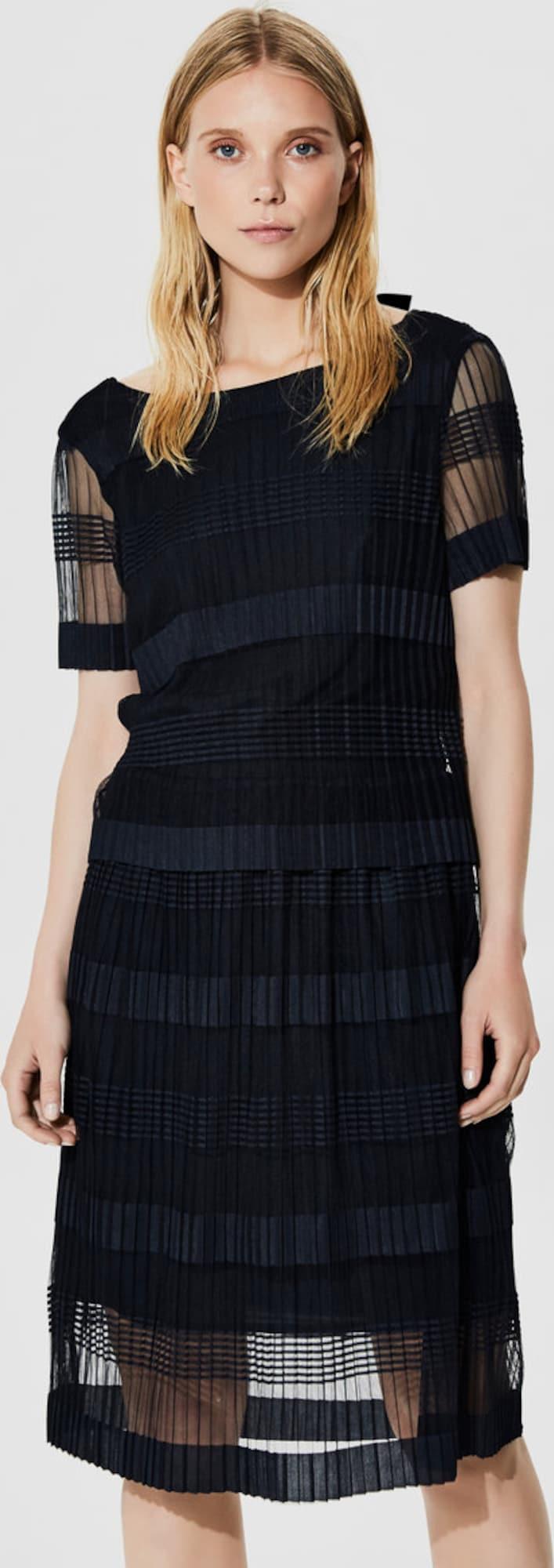 selected femme mesh kleid mit kurzen rmeln in blau. Black Bedroom Furniture Sets. Home Design Ideas