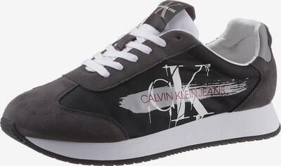 Calvin Klein Trainers in dunkelrot / schwarz / weiß, Produktansicht