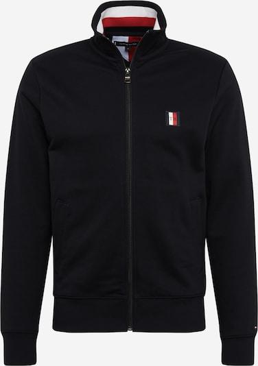 TOMMY HILFIGER Tepláková bunda 'Global Stripe' - červené / čierna / biela, Produkt