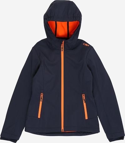 CMP Softshelljacke in dunkelblau / orange, Produktansicht