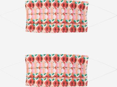 Zwillingsherz Scarf '2er Pack Retro' i blandade färger / röd, Produktvy
