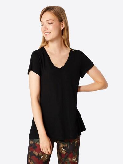Kaffe T-Shirt 'Anna' in schwarz: Frontalansicht